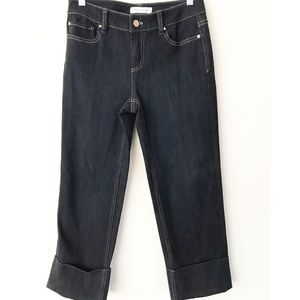 White House Black Market cuffed capri jeans NWT